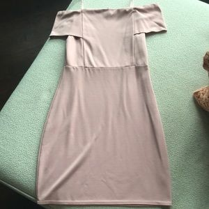 Francesca's fitted blush dress